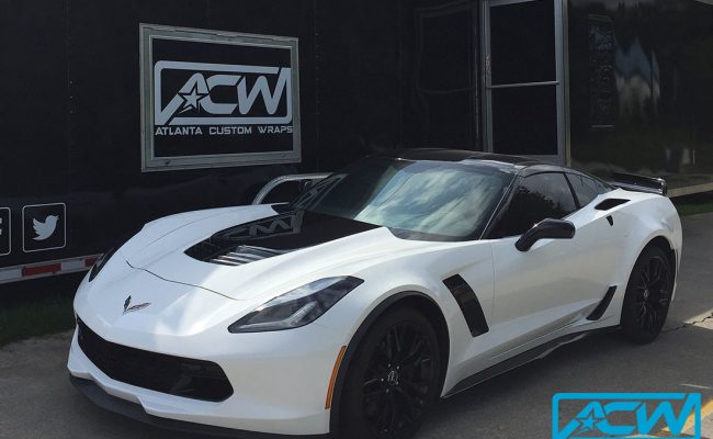 custom-vinyl-wrapped-corvette-gloss-white