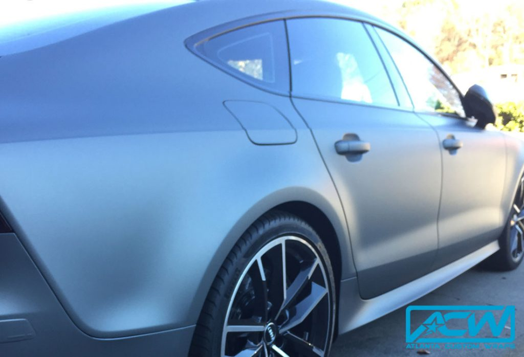 Audi Dealership Atlanta >> Audi RS7 Custom Wrapped in Matte Gunmetal Metallic - Atlanta Custom Wraps