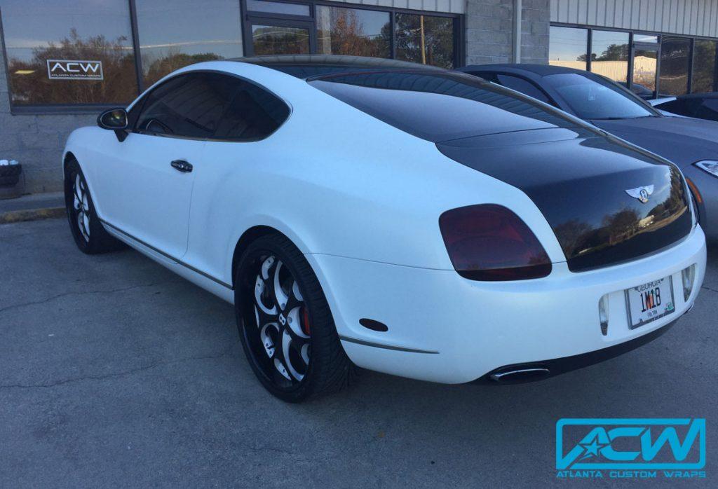 Bentley Coupe Satin Frozen Vanilla Vinyl Wrap Atlanta
