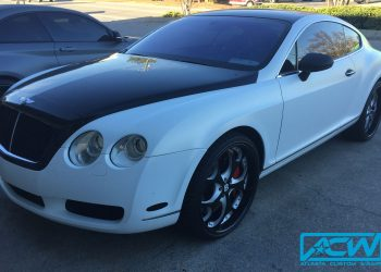 Bentley Coupe Satin Frozen Vanilla Vinyl Wrap