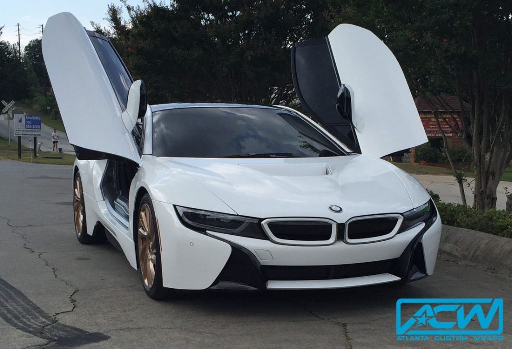 2014 Bmw I8 Silver To Gloss White Atlanta Custom Wraps