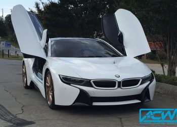 2014 BMW i8 Silver to Gloss White