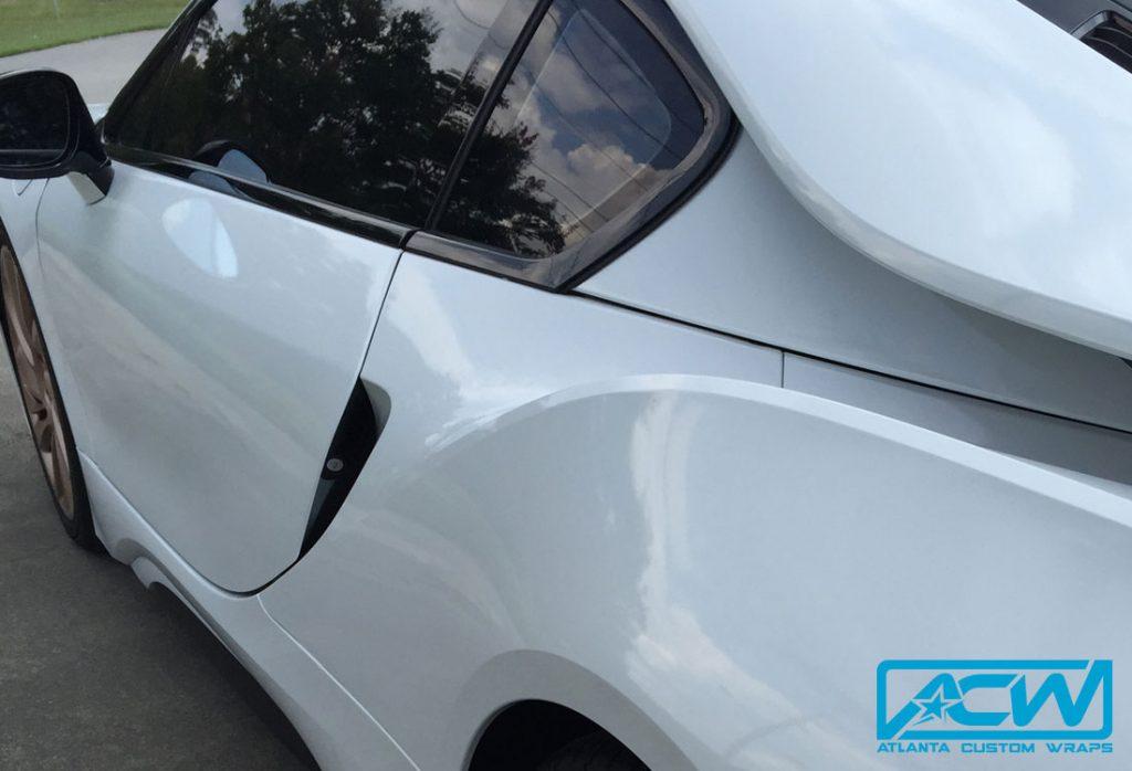 2014 Bmw I8 Silver To Gloss White Atlanta Custom Wraps