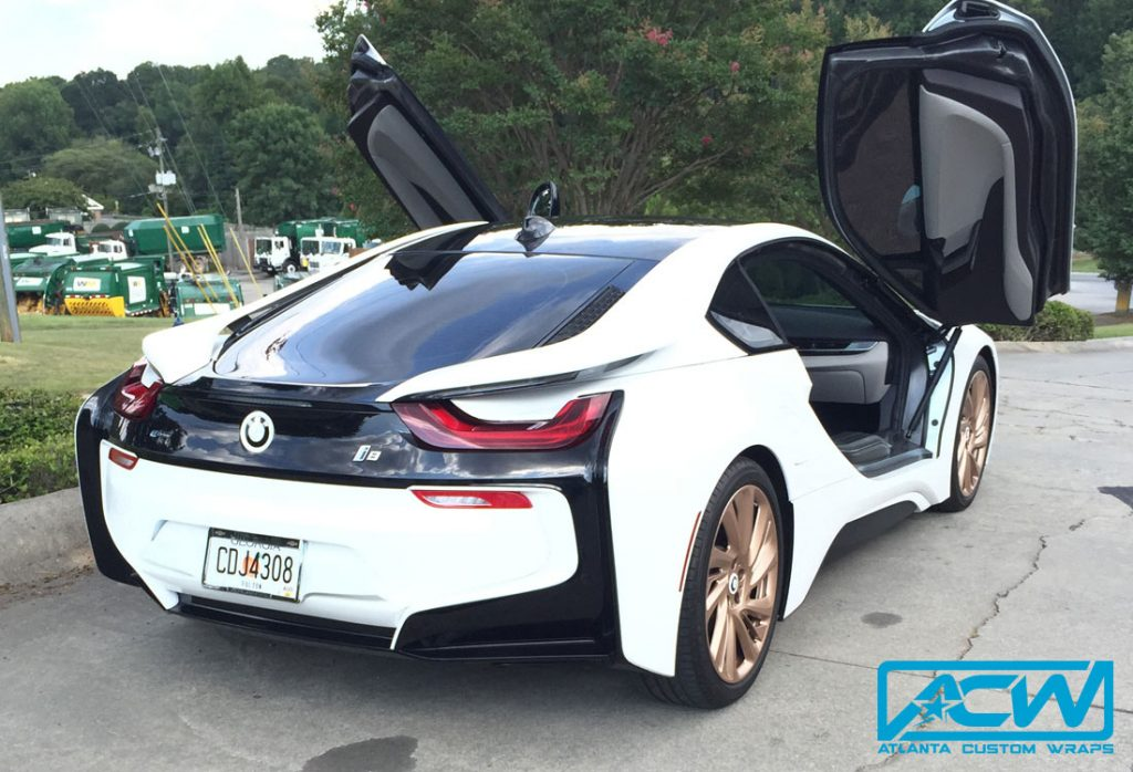 2014 BMW i8 Silver to Gloss White - Atlanta Custom Wraps