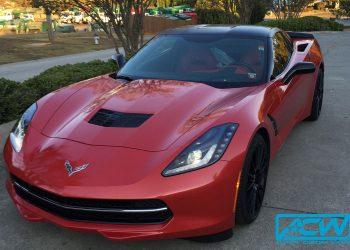 2015 Corvette Stingray White to Diamond Red