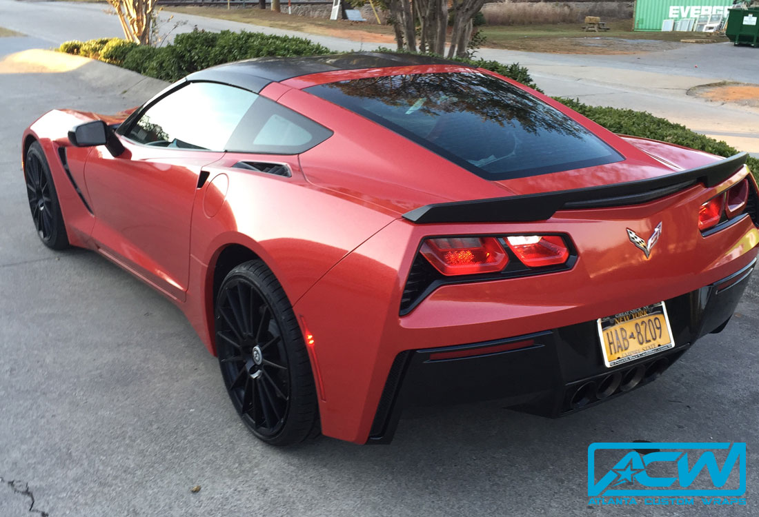 2015 Corvette Stingray White To Diamond Red Atlanta