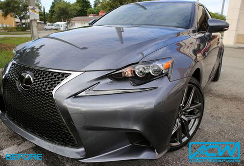 2014 Lexus F Sport Matte Gunmetal Atlanta Custom Wraps