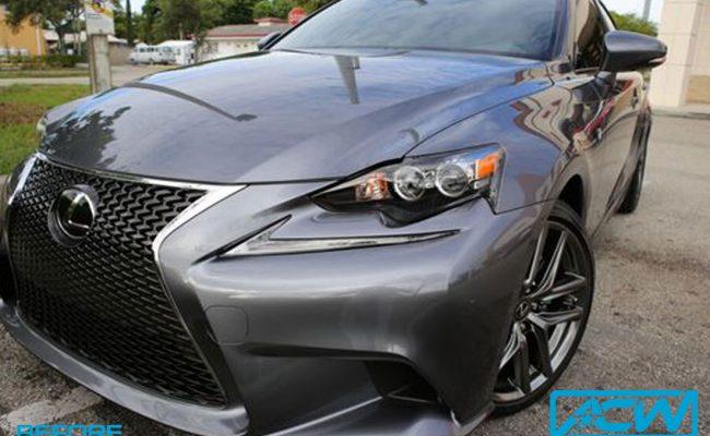 Custom-Vinyl-Wrap-Lexus-F-Sport-Grey