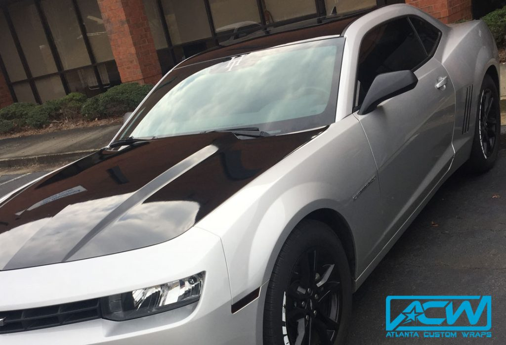2013 Camaro Hood Amp Roof Wrap Atlanta Custom Wraps