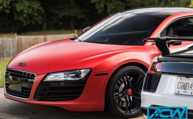Custom-Vinyl-Wrap-audi-r8-red-satin-3m