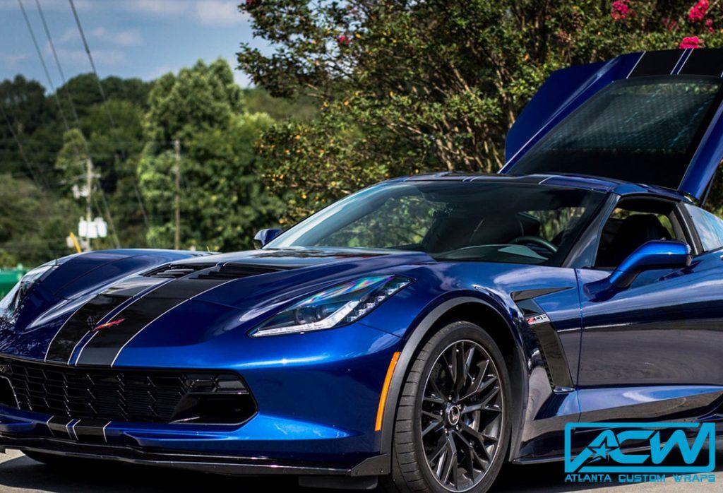 2017 Corvette Z06 With Custom Dual Rally Stripes Atlanta