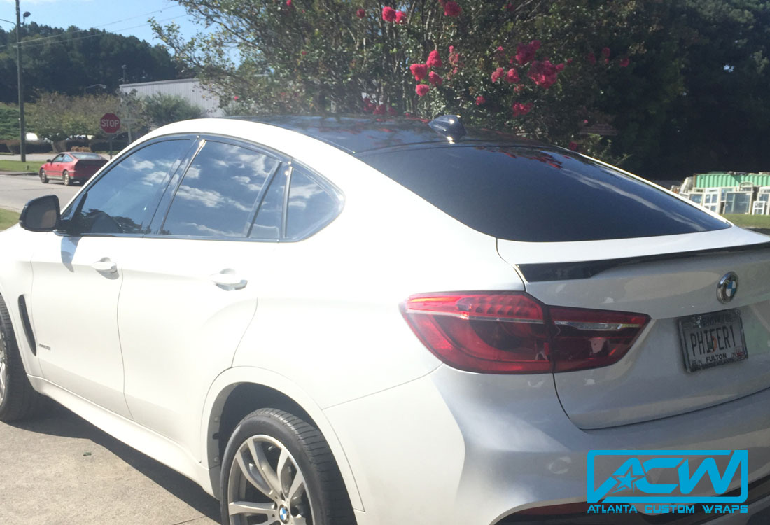 2016 Bmw X6 With 3m 1080 Gloss Black Roof And Wing Wrap Atlanta