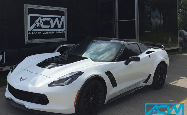custom-vinyl-wrap-white-black-corvette