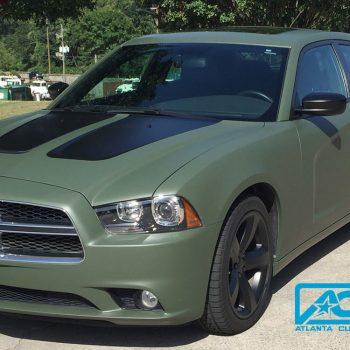 Custom-Vinyl-Wrap-charger-military-green