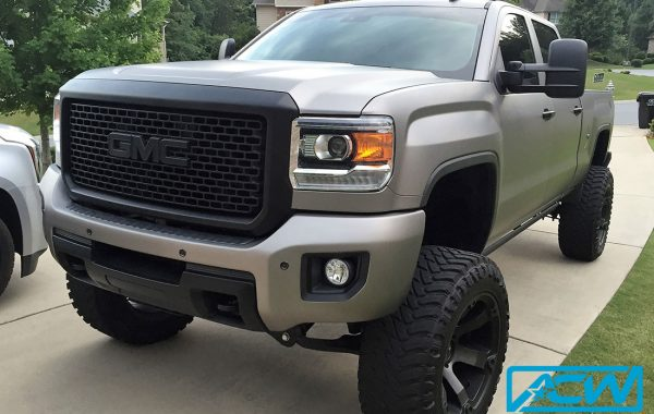 GMC Truck Matte Charcoal Metallic with Chrome Delete