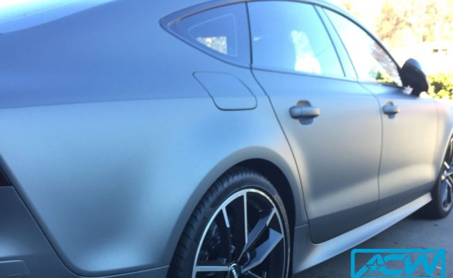 Audi-RS7-Metallic-Gunmetal-Custom-Vinyl-Wrap