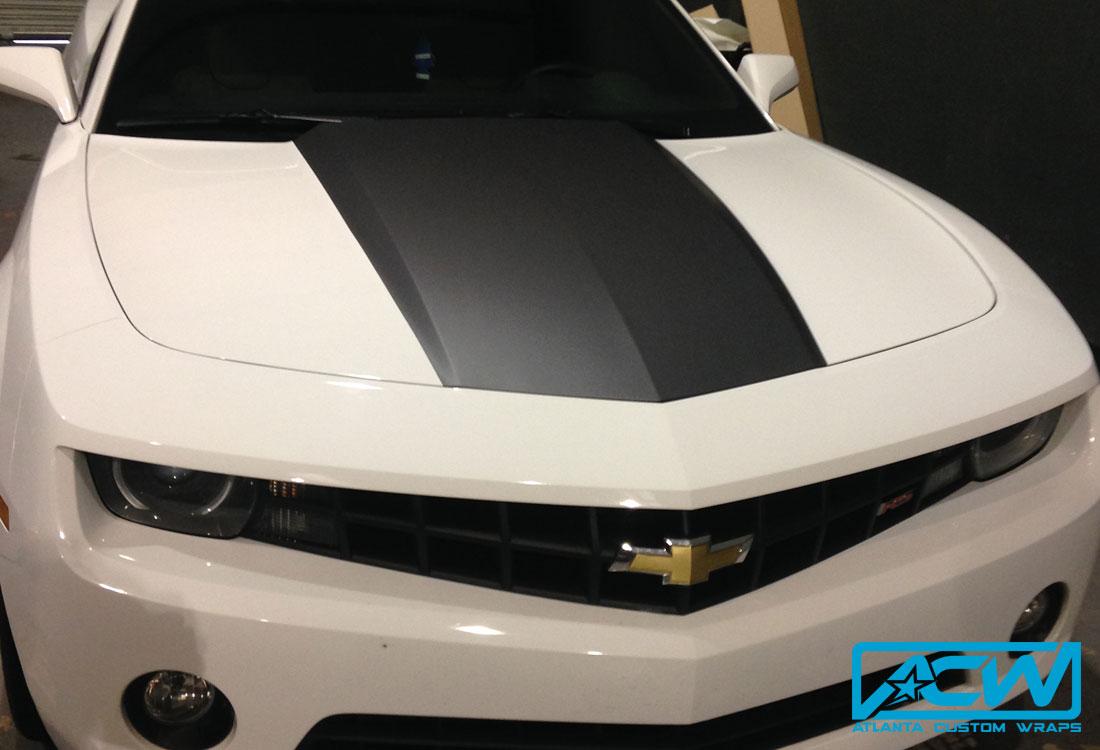 2012 Camaro Hood Accent Atlanta Custom Wraps