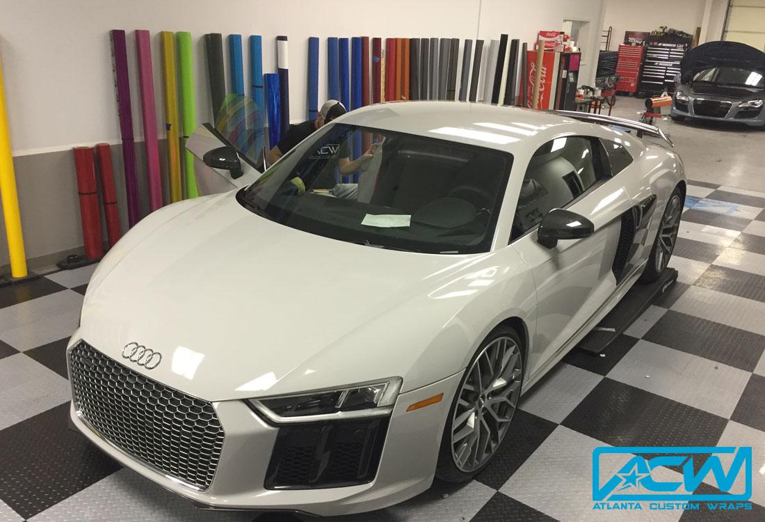 2017 Audi R8 3m Gloss Storm Grey Atlanta Custom Wraps