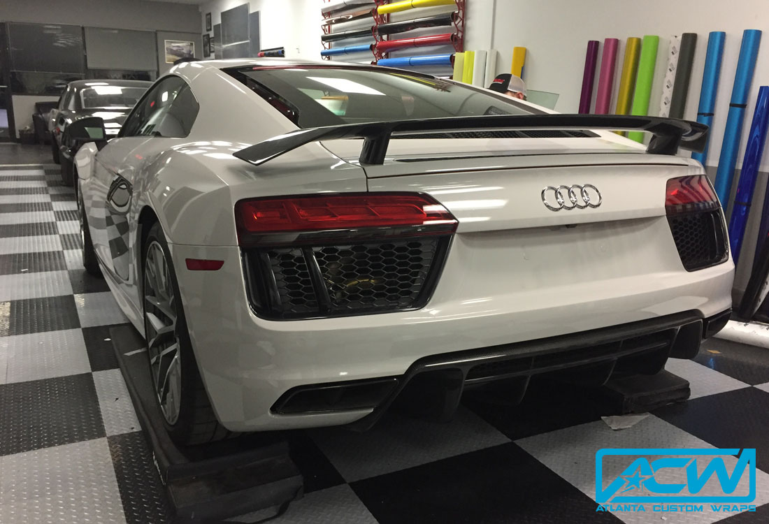 2017 Audi R8 3m Gloss Storm Grey Atlanta Custom Wraps