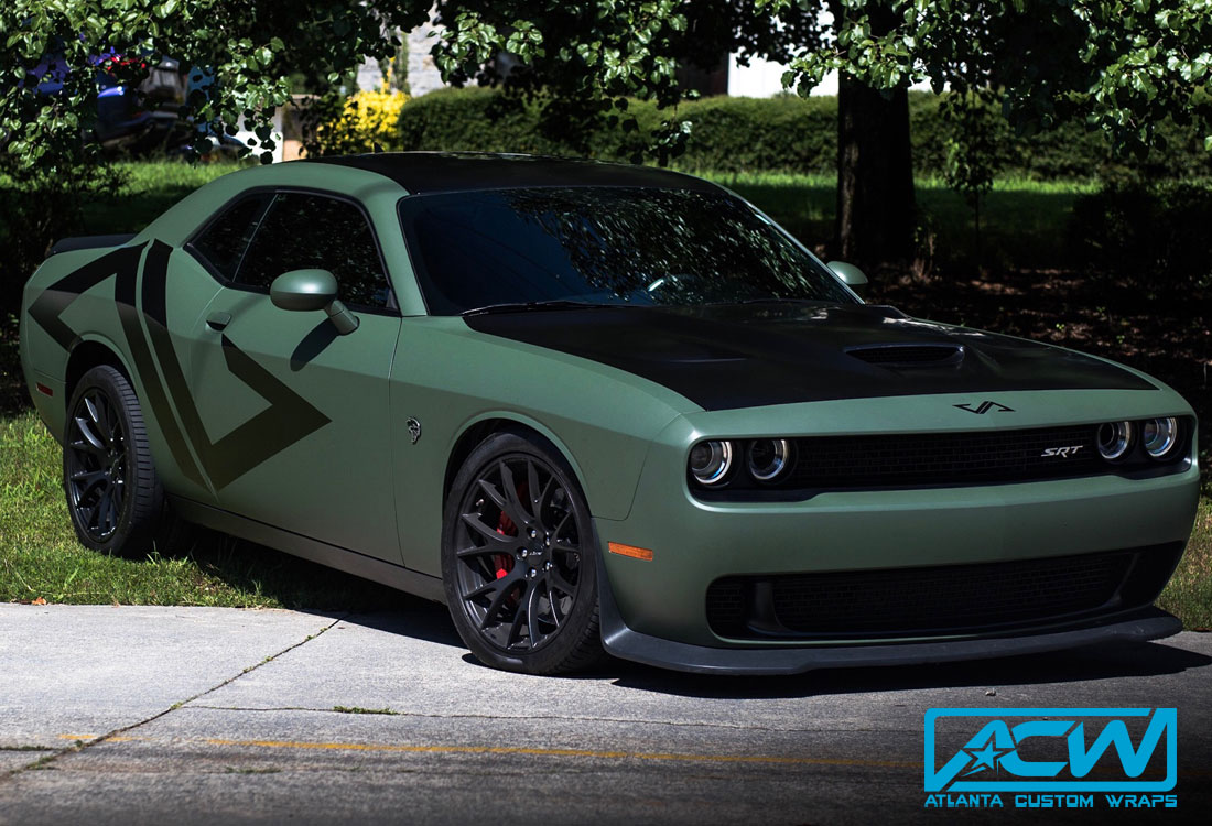 2016 Dodge Challenger Hellcat Atlanta Custom Wraps