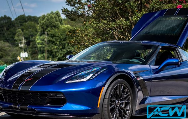 2017 Corvette Z06 with Custom Dual Rally Stripes