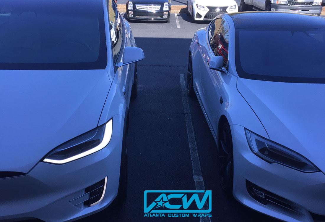 2017 Tesla Model X Atlanta Custom Wraps