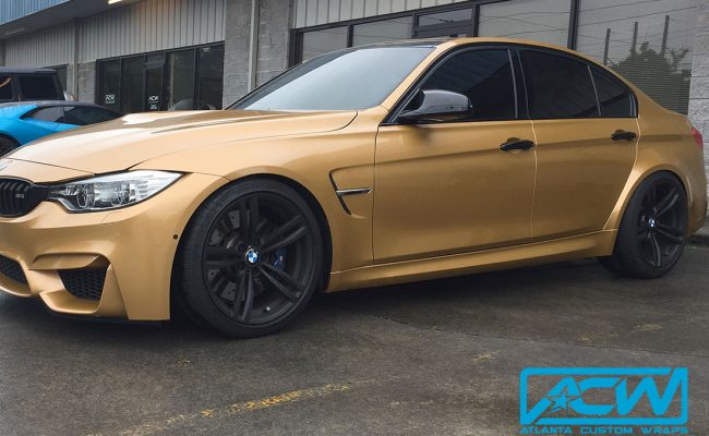 Custom-Vinyl-Wrap-M3-BMW-1080-Gold-Wrap