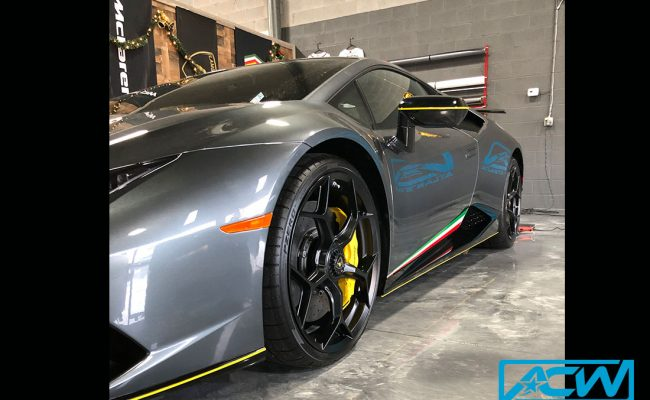 Custom-Vinyl-Wrap-performante-stripes-lambborghini-2018-Gloss-Bright-Yellow